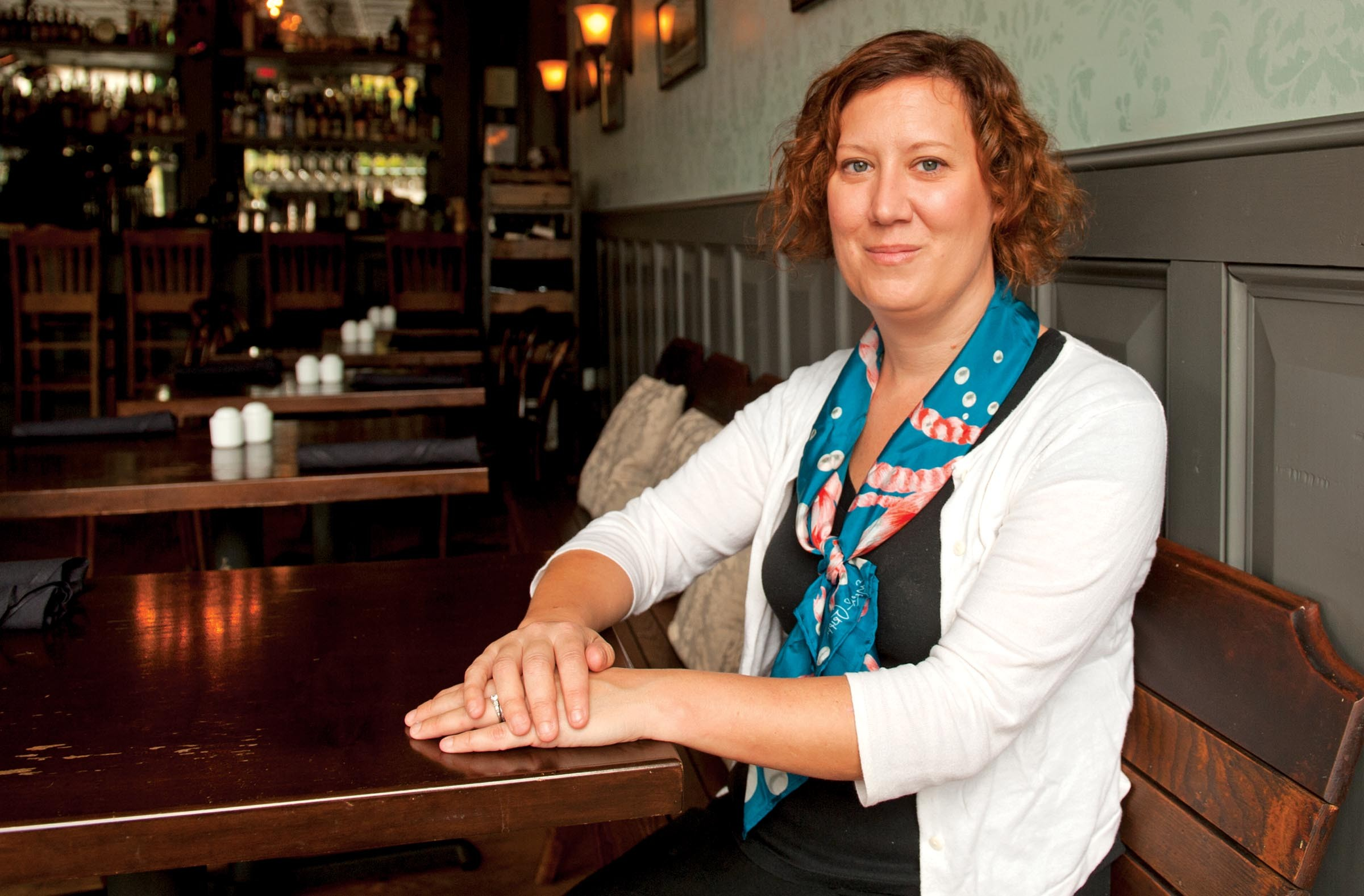 """Kendra Feather has a simple philosophy: """"Not every situation has to be the best fine-dining restaurant in the whole wide world. ... You can be a great good place."""" She's shown here at the Roosevelt. - SCOTT ELMQUIST"""