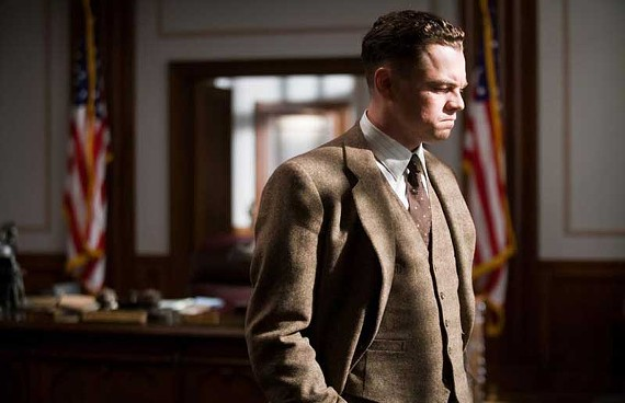 """King of the world, ma!"": Leonardo DiCaprio is Hoover in director Clint Eastwood's provocative biopic, ""J. Edgar."" - WARNER BROS. PICTURES"