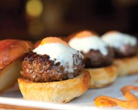 Kobe beef sliders with spicy aioli are bar food highlights at the revamped Metro Grill, a 10-year old Fan District hangout.