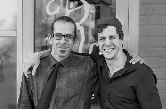 Lamb of God frontman Randy Blythe and his friend, choreographer Matthew Frain. - BRIAN BROWN