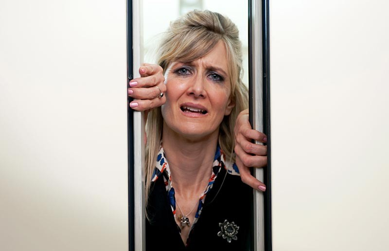 "Laura Dern as the unhinged Amy Jellico in ""Enlightened."""