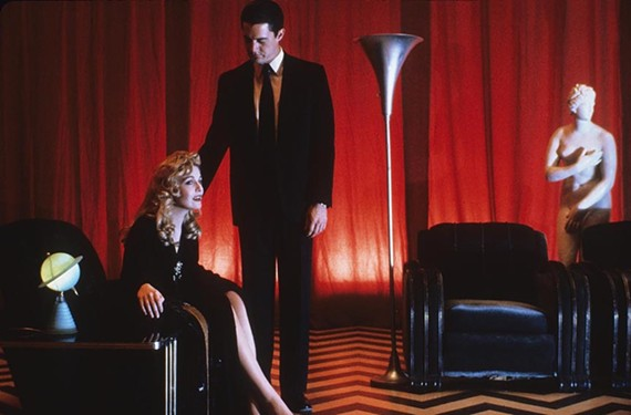 "Laura Palmer, played by Sheryl Lee, and FBI agent Dale Cooper, played by Kyle McLaughlin, in a dream sequence of sorts from David Lynch's ""Twin Peaks."" Fans were disturbed to learn that Lynch recently pulled out of a planned third season on Showtime — but hope springs eternal."