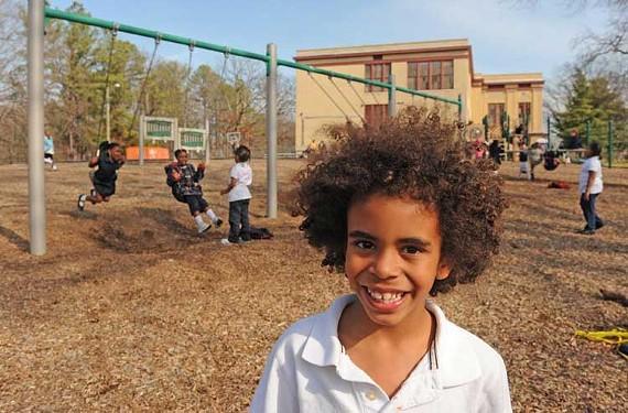 Levi Nolan is a first-grader at the Patrick Henry charter school. - SCOTT ELMQUIST