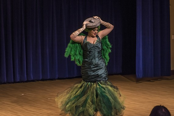 Lilly Liqueur gets her Oscar the Grouch on during a former sold-out show at Centerstage. - DAVE PARRISH PHOTOGRAPHY
