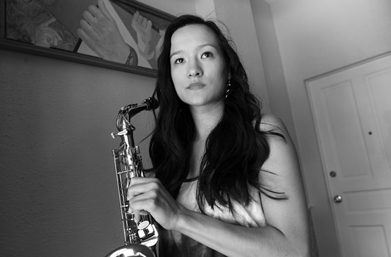 Local saxophonist Suzi Fischer has been blazing her own path in the male-dominated jazz world. - SCOTT ELMQUIST