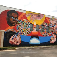 The Richmond Mural Project Location: 534 N. Harrison St., north wall of Mansion. Artist: Ever.