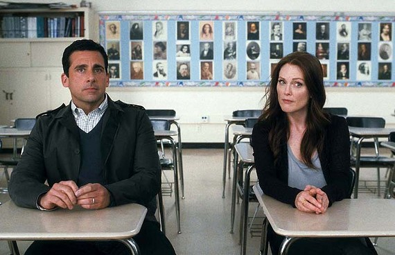 Love blurts: Steve Carell and Julianne Moore star in a new romantic comedy that isn't quite as smart as it thinks it is.