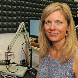 Lynne Hughes is broadcasting her show from the WLEE studio every weekday from noon to 2 p.m. Photo by Scott Elmquist