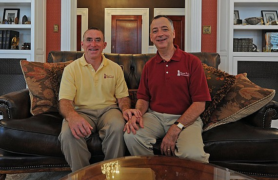 Mac Pence and Jeff Wells, the co-owners of Maury Place at Monument, were married two years ago in Boston. - SCOTT ELMQUIST