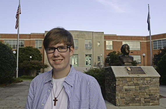 Maggie Walker sophomore Harrison Clark says the protest over the student dress code is about fairness.