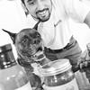 Man, Dog and Salsa