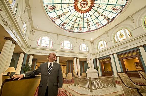 Manager of the Jefferson Hotel, Gary Burke. - ASH DANIEL