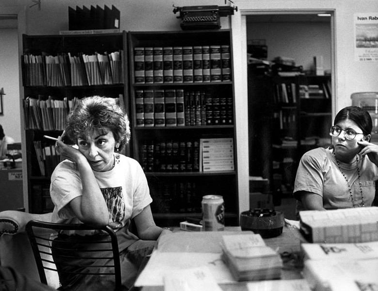 Marie Deans in her office at the Virginia Coalition on Jails and Prisons in 1992, during her fight to save Willie Leroy Jones, who was executed Sept. 15, 1992. - BETH BERGMAN NAKAMURA/THE VIRGINIA N PILOT
