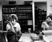 Marie Deans in her office at the Virginia Coalition on Jails and Prisons in 1992, during her fight to save Willie Leroy Jones, who was executed Sept. 15, 1992.