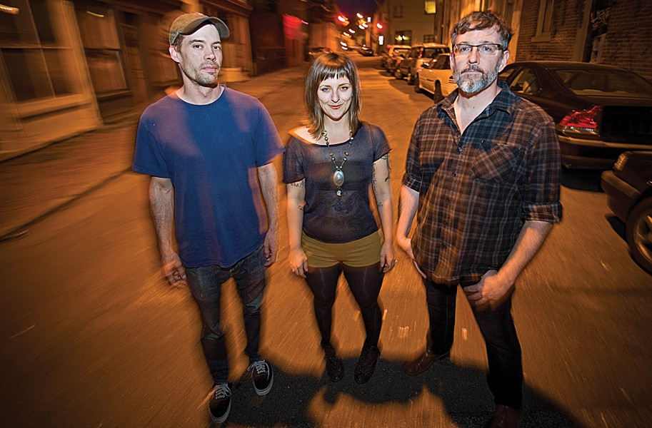 Mark Hutcherson on drums, Josie Davis on bass, and guitarist and vocalist Michael Harl make up Canary Oh Canary, which has a new full-length album available July 11. - ASH DANIEL/FILE