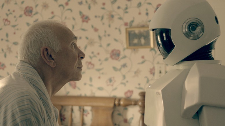 Marvin, is that you? Against his will, Frank (Frank Langella) grows fond of his robot helper (voiced by Peter Sarsgaard).
