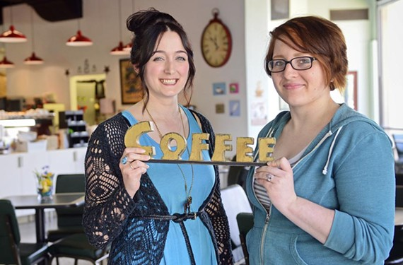Mary Stanfield and Mara Beatnik, veteran baristas at Adbibo Coffee, are dedicated to serving a good cup of coffee to each customer.
