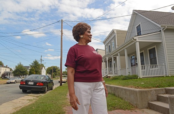 "Mary Thompson, president of the New Visions Civic League, has lived in Church Hill for 60 years. She loves her neighborhood, she says, and ""I just want everyone else to love it too."" - SCOTT ELMQUIST"
