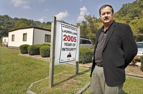 Massey Energy chief executive Don Blankenship outside his field headquarters in Belfry, Ky. - JEFF GENTNER/AP IMAGES