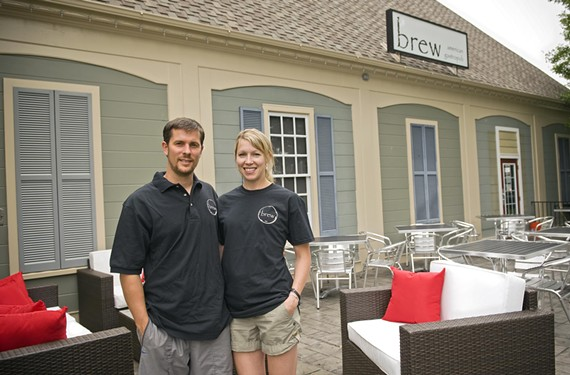 Matt and Karen Verdisco open their Chesterfield gastropub Brew this week, showing the patio of a building they transformed for their first restaurant venture. - ASH DANIEL
