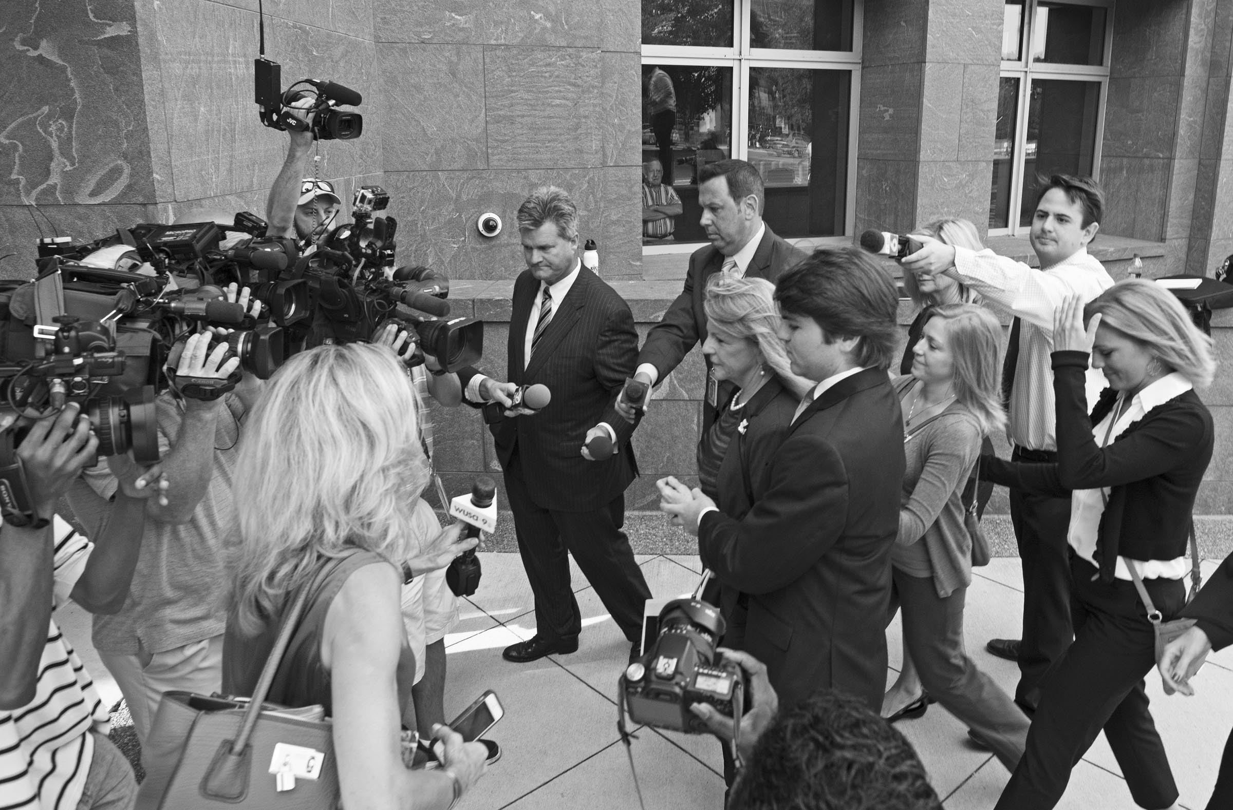 Maureen McDonnell, entering the courthouse, endured weeks of criticism and unflattering accounts of her time as first lady from witnesses called by her husband's defense. - SCOTT ELMQUIST