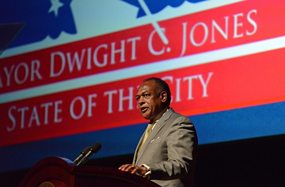 """Mayor Dwight Jones calls on Richmonders to step out of their """"comfort zone"""" in addressing the city's poverty crisis at last week's State of the City address. - SCOTT ELMQUIST"""