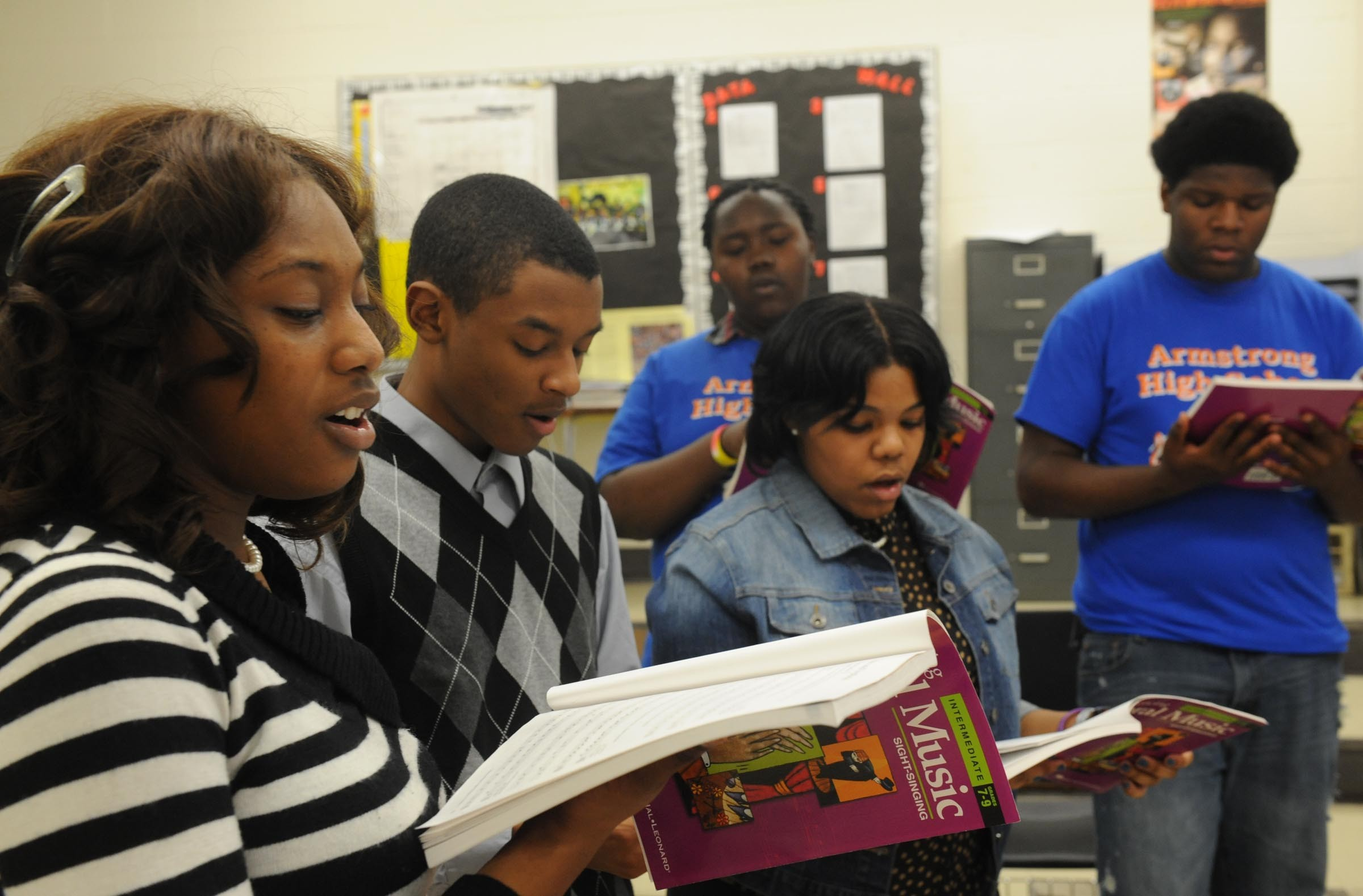 Members of the Armstrong High School choir were offered a chance to sing at Carnegie Hall, but the school can't afford to send them to New York. - SCOTT ELMQUIST