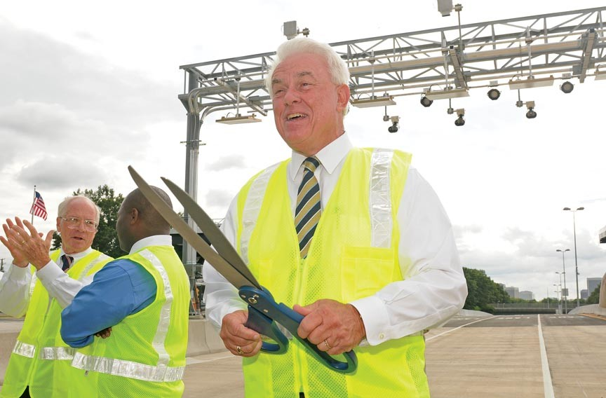 Mike Berry, general manager of the Richmond Metropolitan Authority, at the Aug. 6 ribbon cutting for the Downtown Expressway's open-road toll lanes.