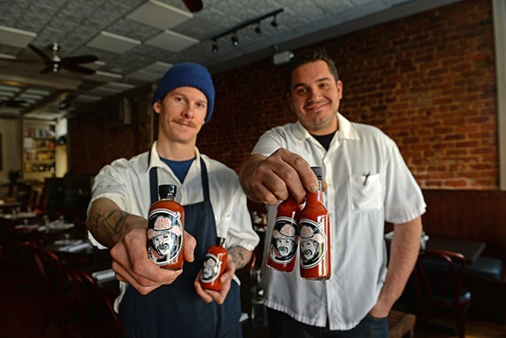 Mike Hill and Joe Sparatta of Heritage are now producing their own hot sauce.