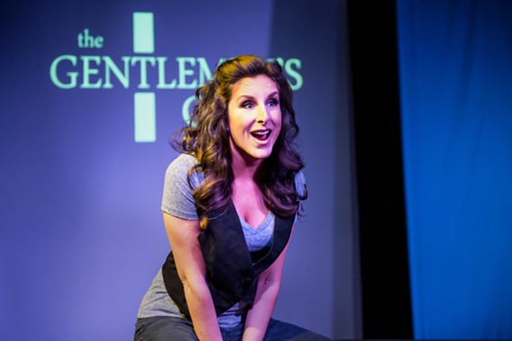 "Multi-talented actress Eva DeVirgilis impresses again in the one-woman show, ""Hypocrites and Strippers."""
