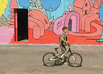 Mural-Covered Bus Depot Reopened to Pedestrians