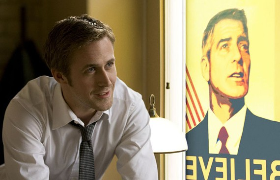 """""""My guy is slicker than Dapper Dan pomade."""" Ryan Gosling is politican George Clooney's campaign organizer in the above-average political thriller """"Ides of March."""" - SAEED ADYANI"""