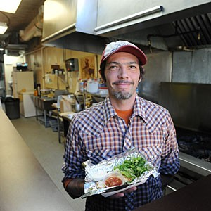 Nate Gutierrez brings his tacos inside with a new truck stop takeout space downtown. Photo by Scott Elmquist.