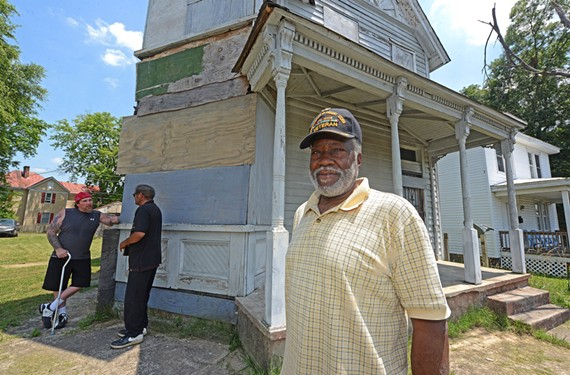Navy veteran Henry Mack plans to turn this house in the Blackwell community into a veterans' outreach center he hopes will help the entire South Side neighborhood.