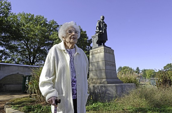 Now 101, Anna Gragnani recalls her role in the dedication of the Christopher Columbus statue at Byrd Park in 1927.