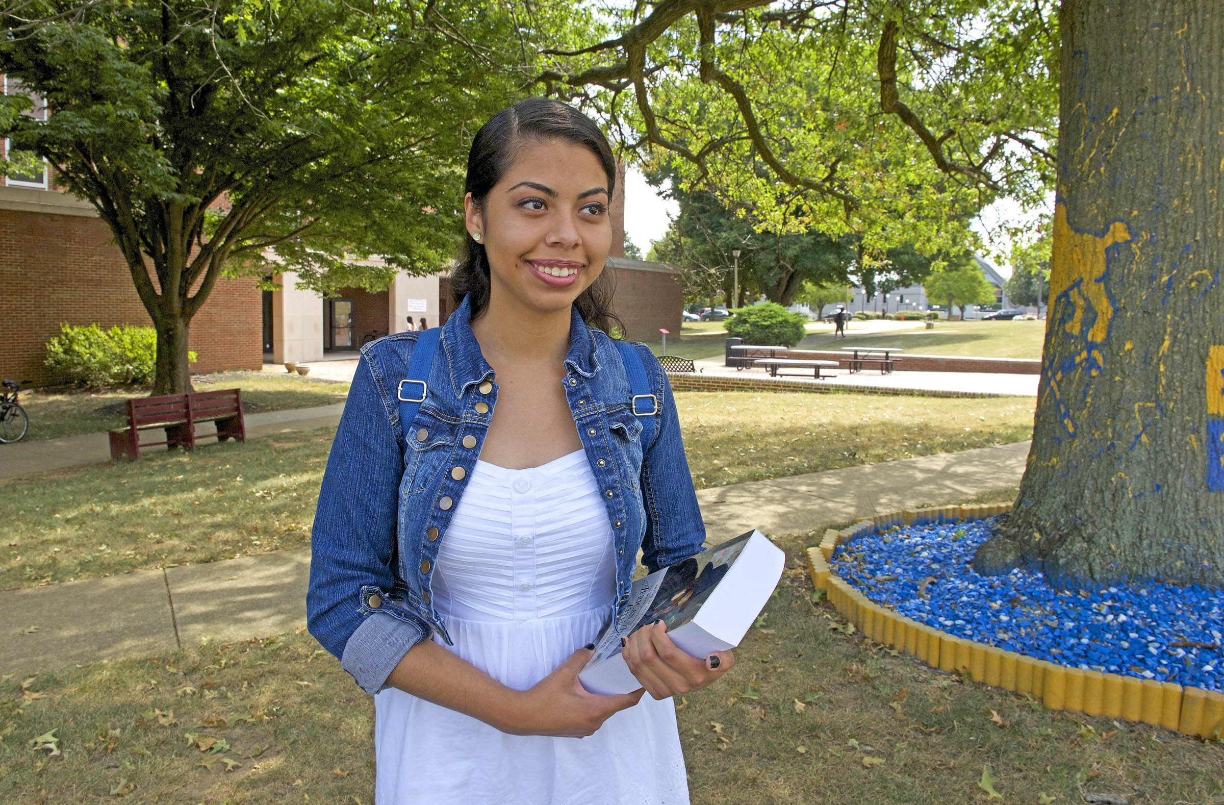 """Now in college, Jessica Osornio says she continues to be concerned by how Latino students are treated in Richmond schools. """"It's overwhelming to start over and be in a school that discriminates,"""" she says. """"You can't speak up. You can't communicate with others."""" - SCOTT ELMQUIST"""