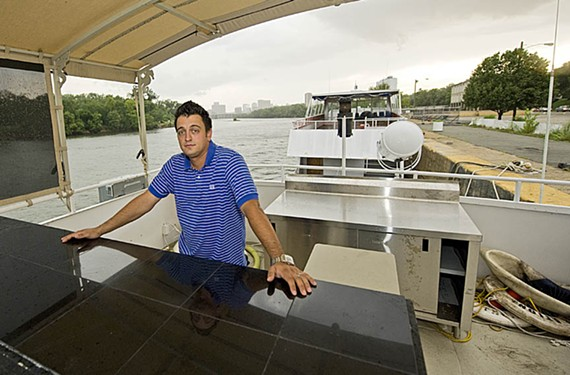 Now that the eels have been evicted, Matthew Gleason is poised to open a restaurant on the boat Celebration. - ASH DANIEL