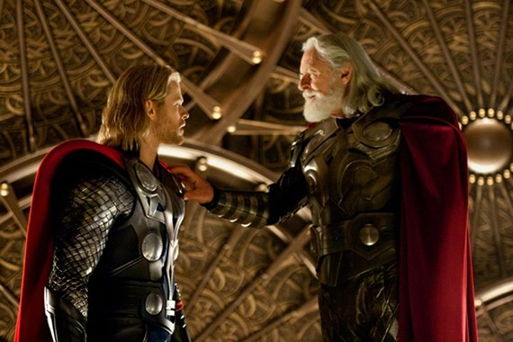 Odin in the way: Chris Hemsworth is Thor and Anthony Hopkins is Thor's daddy in the latest Marvel Comics adaptation to thunder across multiplexes. - ZADE ROSENTHAL