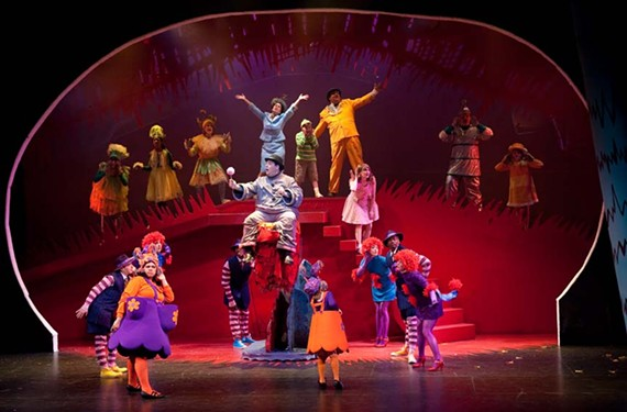 """Oh, the places you'll go: Patrons would enjoy Theatre IV's delightful """"Seussical"""" in a box, with a fox, with a mouse or on a house. - AARON SUTTEN"""