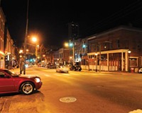 On Friday and Saturday nights, Shockoe Bottom becomes a bustling entertainment district that some say conflicts with the area's growing residential appeal.