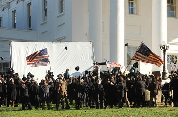 "On the set of ""Lincoln."" - SCOTT ELMQUIST"