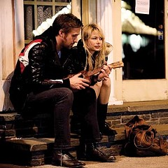 "Only love will break your heart: Ryan Gosling and Michelle Williams meet cute and break up tragically in the touching ""Blue Valentine.""  Photo by David Russo"