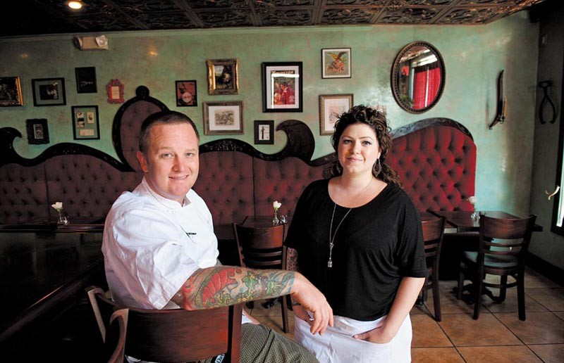 "Owen Lane and Tiffany Gellner opened the Magpie in July at West Leigh and Norton streets. ""We wanted to start off small, and it - just happened that we found a place no more than two minutes from our house,"" Lane says. - SCOTT ELMQUIST"