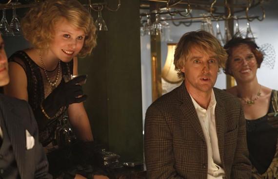Owen Wilson sees dead people — including Allison Pill as Zelda Fitzgerald (left) — in Woody Allen's latest movie. - ROGER ARPAJOU