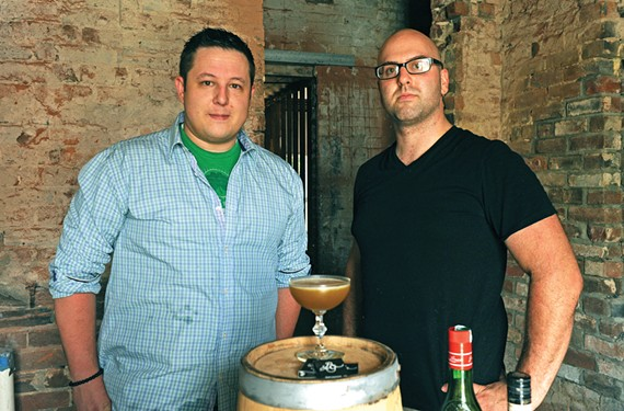 Owner John Maher and bar manager Eric Fortin of Rogue Gentleman, which plans to open in late September or early October. - SCOTT ELMQUIST