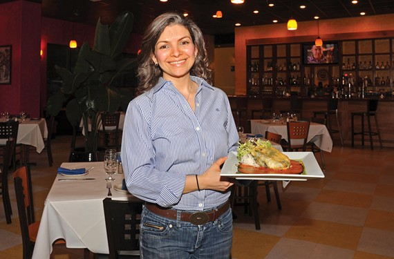 Owner Maria Oseguera offers the jumbo lump crab chile rellenos at her Short Pump restaurant, Maya Mexican Grill and Tequila Lounge. - SCOTT ELMQUIST
