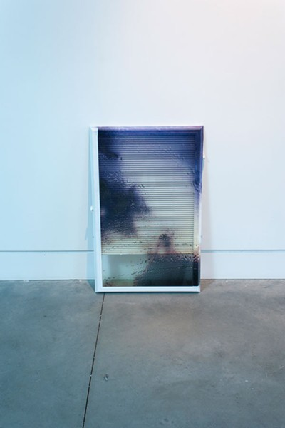 """Page Bond Gallery, which has been selling works online around the world says its owner, is exploring the work of two up-and-coming visual artists. Aaron Koehn's """"Sunset Water on Window,"""" is above."""