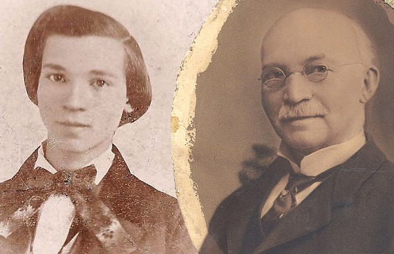 Philip Whitlock, pictured young and old, arrived in Richmond as a teenager and worked as a tailor in Shockoe before becoming one of the city's most successful tobacconists. - BETH AHABAH MUSEUM AND ARCHIVES