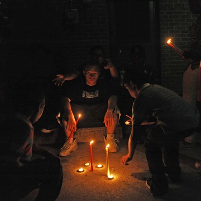 Scenes from the Vigil for Robert Poag