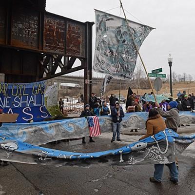 Activists Block Dominion Office